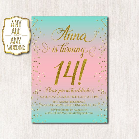91 best Teen birthday invitations images on Pinterest Teen