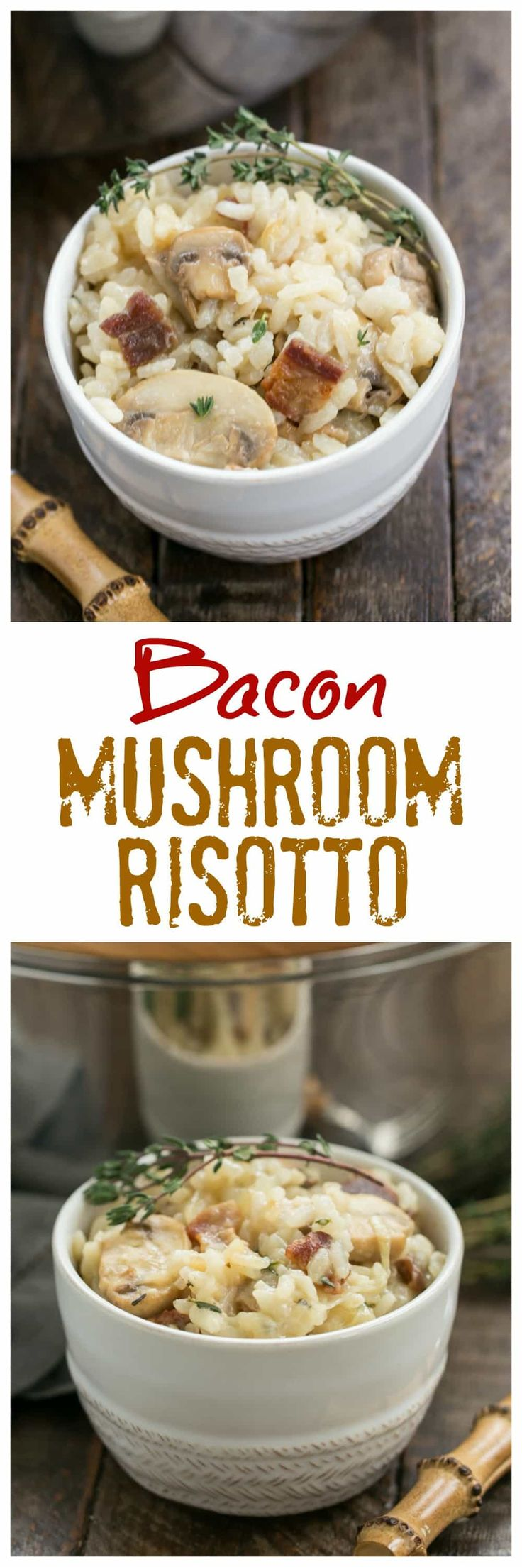 1045 best giveaways from food blogs images on pinterest food bacon mushroom risotto with caramelized onions a rich gourmet rice dish rice forumfinder Gallery