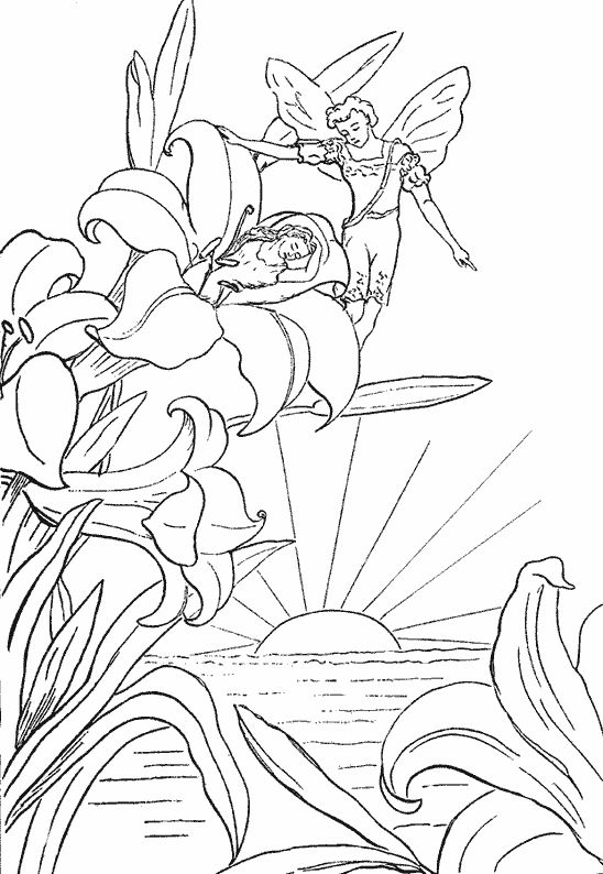 Coloring Pages Fairies Free Fairy Dancing On Flower Gif Car Pictures