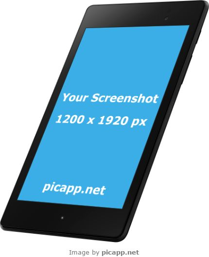 Put your screenshot in this Google Nexus 7 frame with Picapp.net. This tool is very lightweight and fully responsive. You can download your work easy and fast with just one click. And it's free!  #googleNexus7 #nobackground #mockup #google #nexus