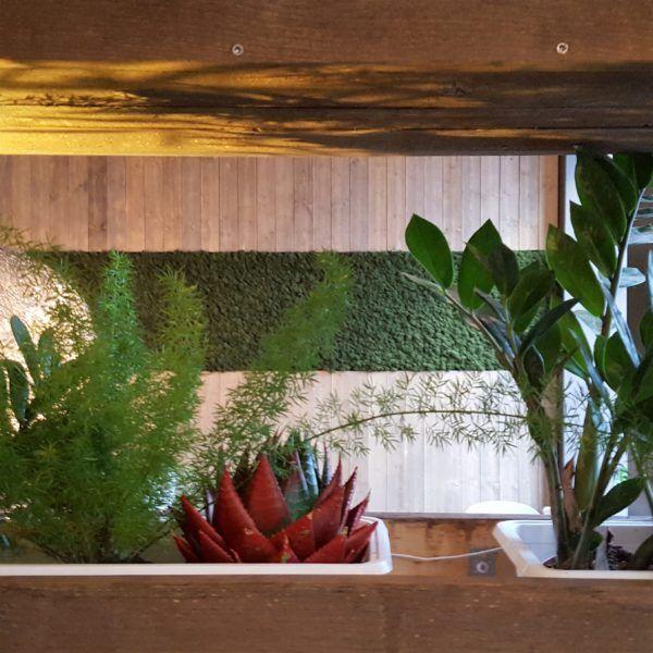Interiør fliser i kokosnøtt her vist i trapp