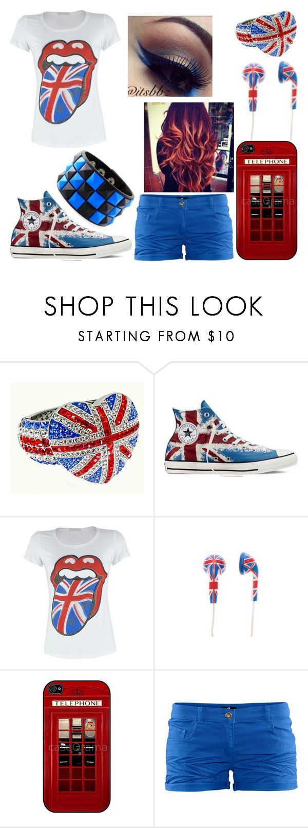 """""""Take Me There"""" by toni-the-tiger-9699 ❤ liked on Polyvore featuring Butler & Wilson, Converse and H&M"""