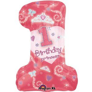 #1 Birthday Princess Jumbo Number One Mylar Balloon by anagram. $5.24. balloon arrives uninflated. balloon is double sided, self-sealing mylar balloon. Jumbo number one First birthday party balloon featuring a princess theme.