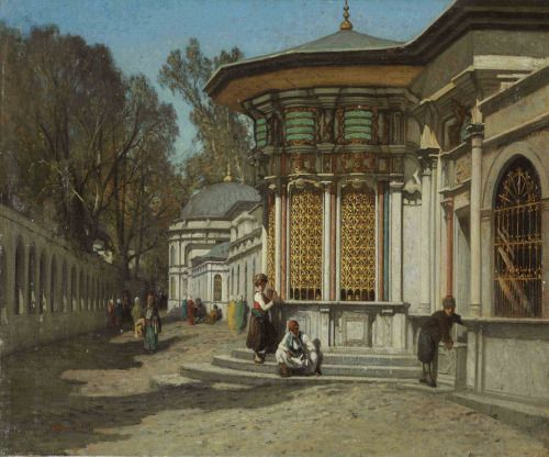 The Mausoleums near the Sehzadebasi Mosque, Istanbul by Germain Fabius Brest