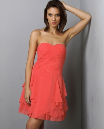 Coral Bridesmaid Dress - great color!  (Clearly a contender in both color and style; Lynci loves it!)