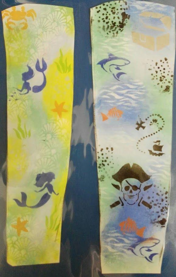 Lucy Jayne's Mermaid and Pirate Graffiti Sleeve