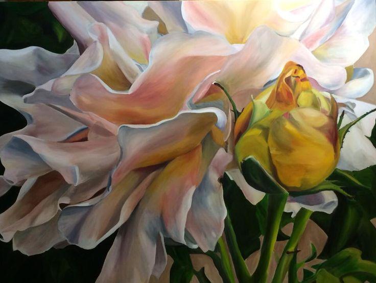 'Warm Whispers' Emma Targett 90x120cm acrylic on canvas www.emmatargett.com