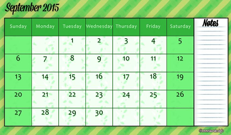 Free Printable September 2015 Calendar Legal