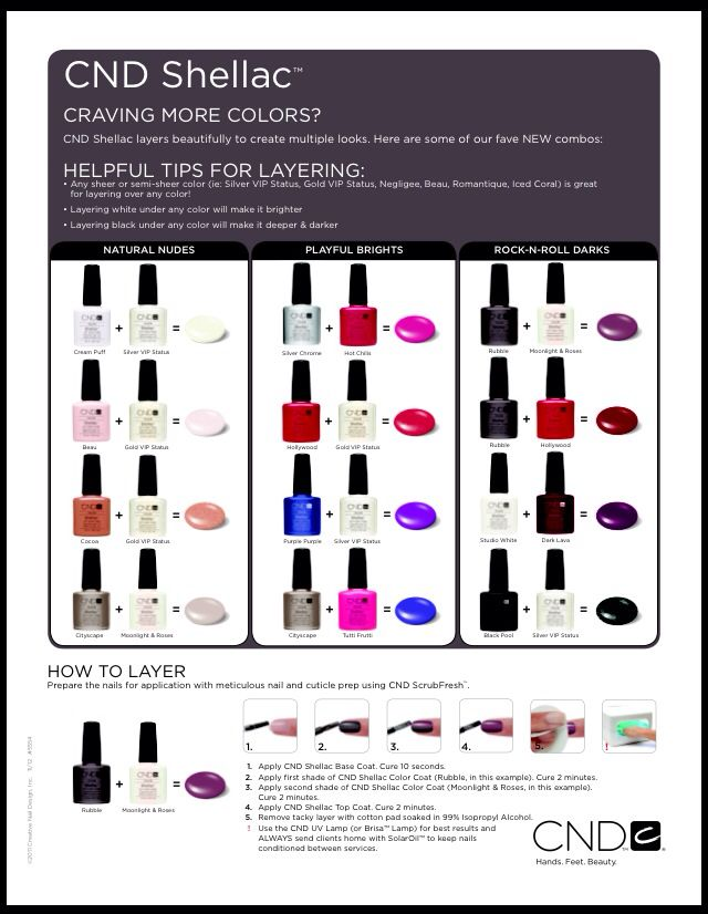 ::: CND Shellac Gel Nail Polish Color Mixes :::