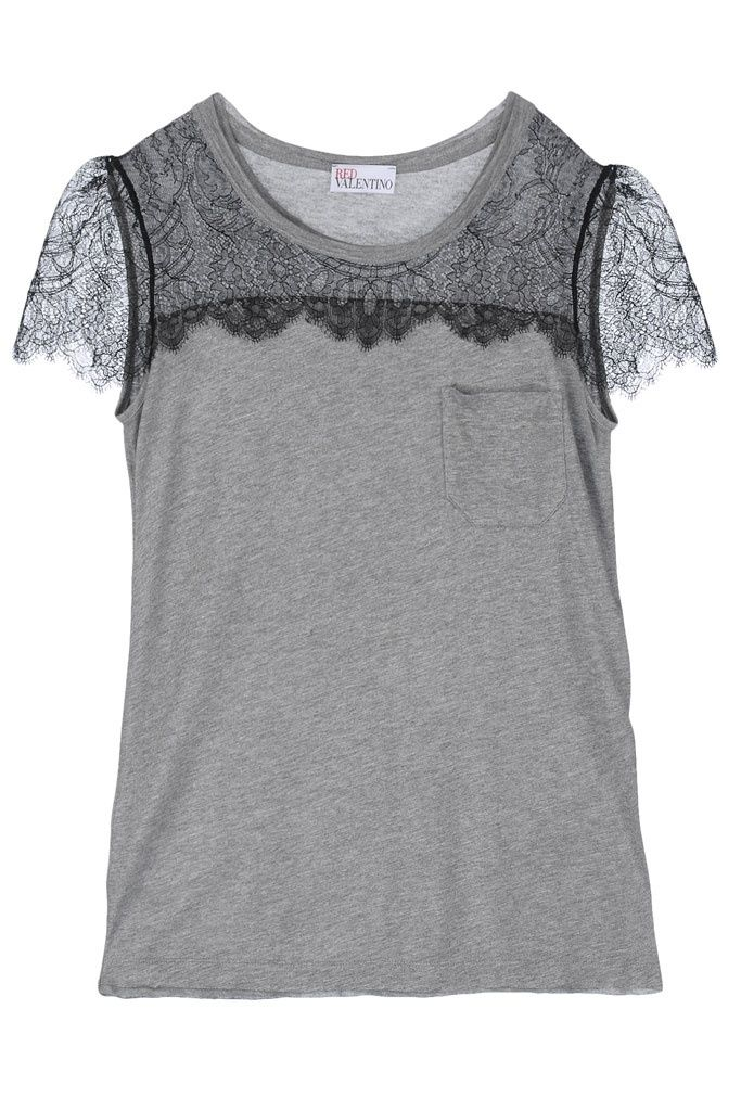 Easy diy with lace and an old tee