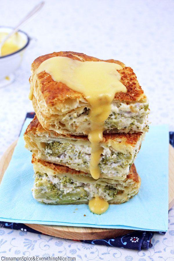 Chicken, Broccoli & Cream Cheese Pillow Puffs