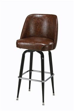 Faux Leather Bar Stool Good Match To Early Dining Room Chair