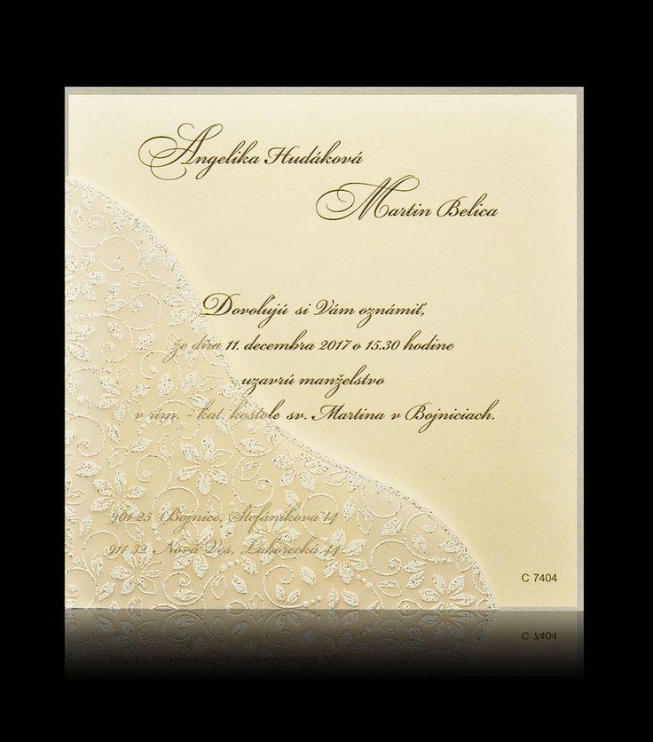 Svadobné oznámenie C 7404 - Luxusné svadobné oznámenia Pamas
