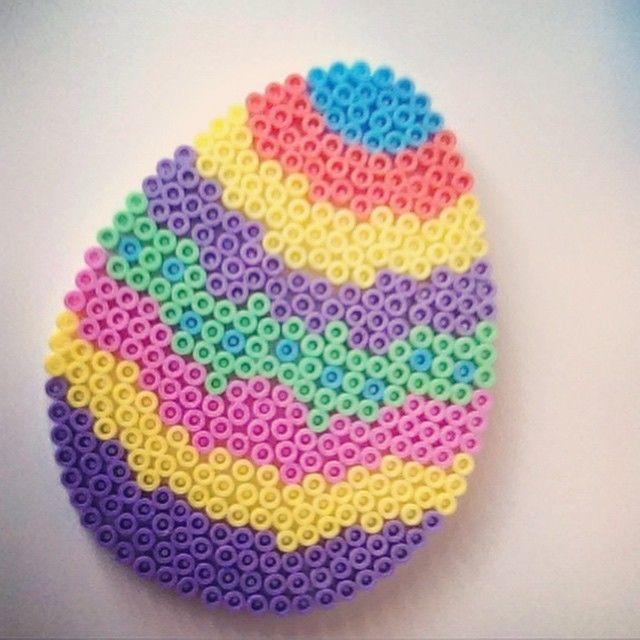 Easter egg hama beads by richardsen92