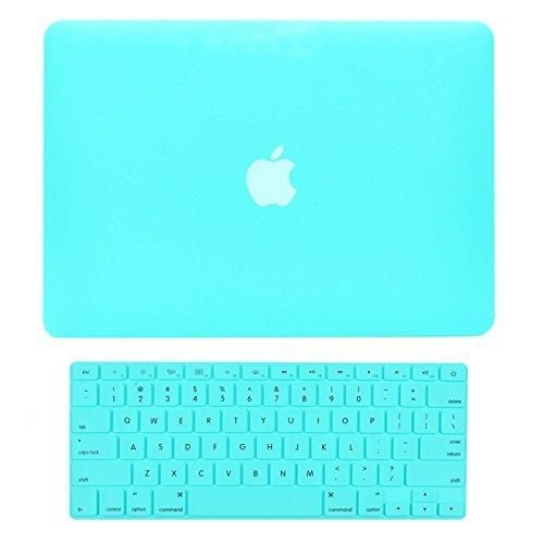 """TOP CASE - 2 in 1 Bundle Deal Air 13-Inch Rubberized Hard Case Cover and Matching Color Keyboard Cover for Macbook Air 13"""" (A1369 and A1466) with TopCase Mouse Pad - Hot Blue"""