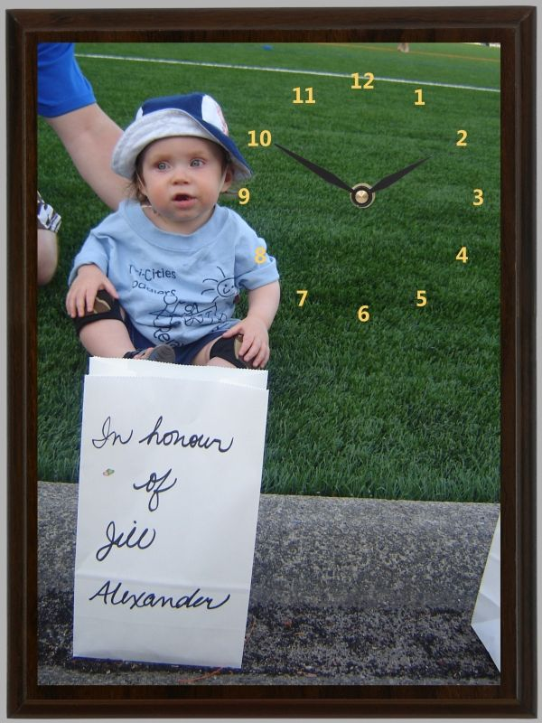 This little guy spent a long day at the Canadian Cancer Society Relay for Life. He honored his Auntie Jill who is a cancer survivor with a luminary.