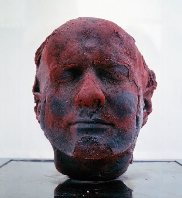 Marc Quinn Self 1991 Blood, stainless steel, perspex and refrigeration equipment 208 x 63 x 63 cm