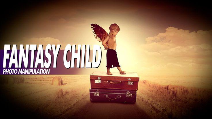 Tutorial Photoshop CS6: Angel child and Fantasy -  Ángel del niño y de l...