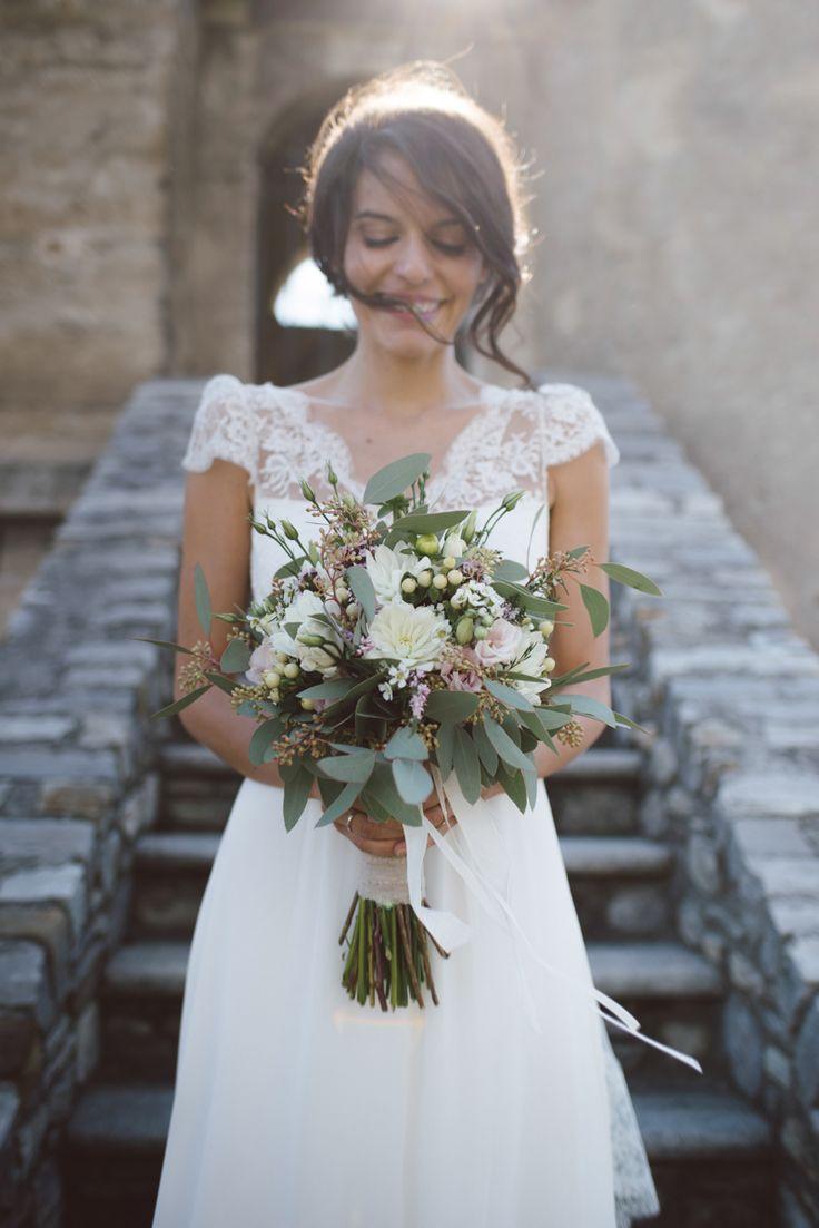 botanical wedding in italy - wedding photography - intimate wedding - laure de sagazan wedding dress