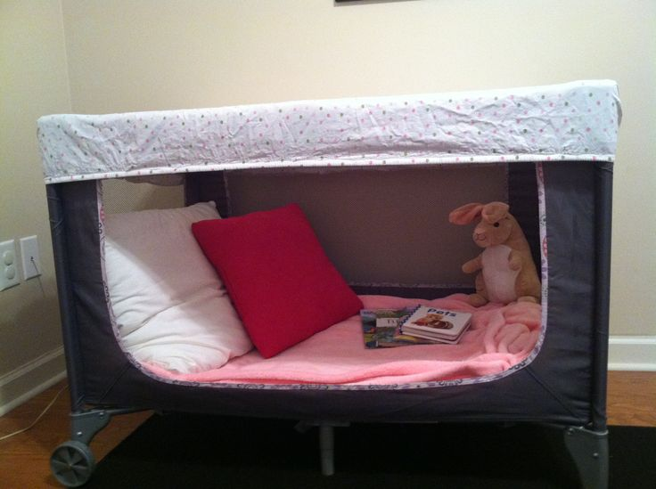 Repurposed Our Old Pack N Play Into A Book Nook For My