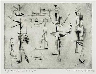 Dorothy Dehner Figures in a Landscape,1955