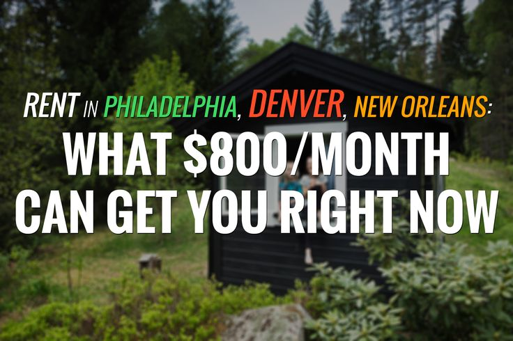 Did you really need more reason to buy?  ========== Welcome to Curbed Comparisons, a column that explores what one can rent for a set dollar amount in various cities across the U.S. Is one person's studio another's townhouse? Let's find out!   Today's price: $800/month.  ========== Read more: http://bit.ly/23Cth1I Source: Curbed #RealEstate #Denver #Rent