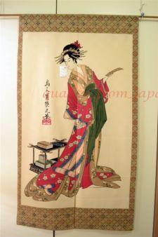 Japanese drapery panels | Japanese Sushi Geisha Noren Curtain Valance Cloth Tapestry Panel 33.5 ...