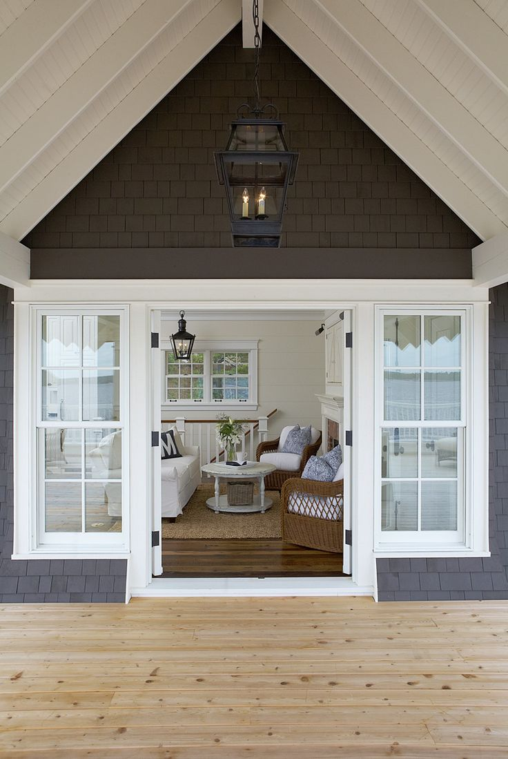 Rustic window trim styles - Muskoka Living Love This Lake House Exterior And Interior Is Pretty Nice Too