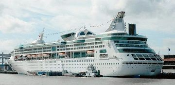 Royal Caribbean Cruise Line Cruise Ship Grandeur Of The Seas Track At Sea