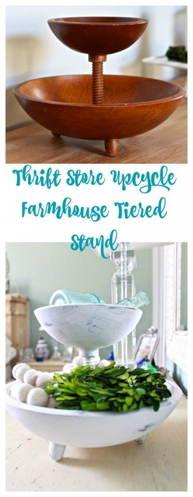 Farmhouse Tiered Bowl – Thrift Store Upcycle
