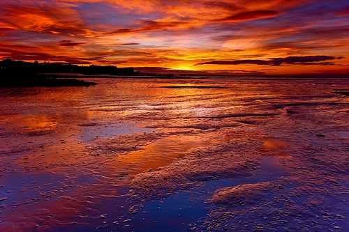 Morecambe Sunset Reflected in the Bay. (by Steve Thompson images)