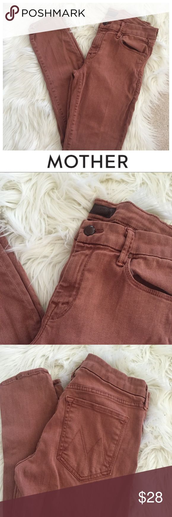 MOTHER Skinny Color Jeans Adorable MOTHER The Looker Pop! skinny jeans in rust / burnt orange. So cute. Size 30. Sizing chart taken from Mother Denim's website for your convenience, but please verify yourself as well. NOT Anthropologie -- just for visibility. Hope you enjoy! 🎈💐 Anthropologie Jeans Skinny