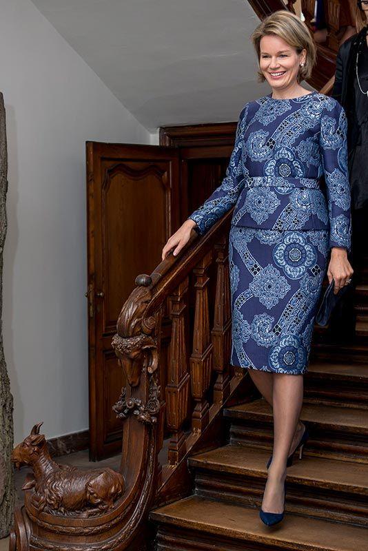 Reina Matilde de Bélgica Acto: Visita a la exposición 'Design Derby Nederland-Belgie' en el museo de Gante (Bélgica). Fecha: 16 de diciembre de 2015.