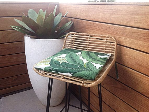 Chair Pads, Palm Leaf Cushions, Banana Leaf Outdoor Cushions, Outdoor Pillows Tropical Chair Pad, Tommy Bahama Fabric Chair Pads