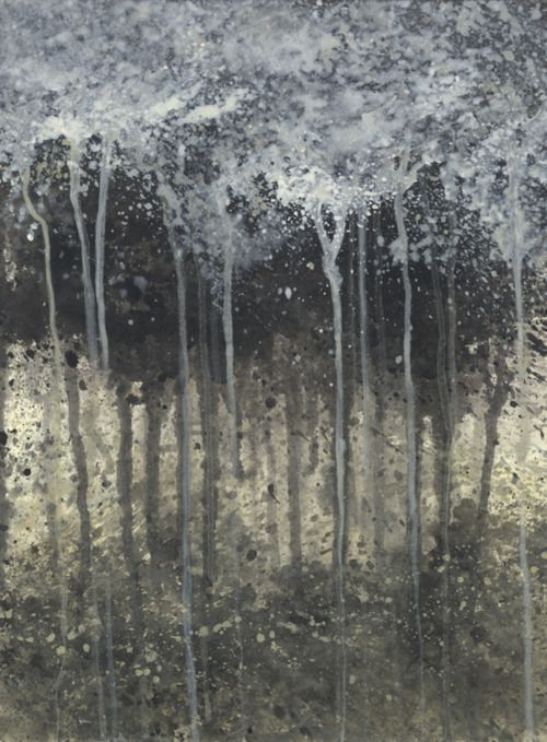 "Elysia Merrett, ""Sakura/Kaijou"" Dusk (2007), Acrylic on deep edge canvases: Edge Canvas"
