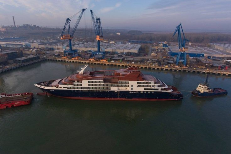 Ponant's new Le Lapérouse vessel is now on her way to final outfitting in Norway following the start of her building process
