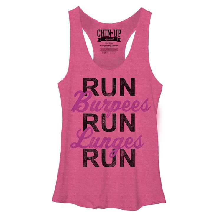 Chin Up - List It - Racerback Tank Junior Racerback Tank Top