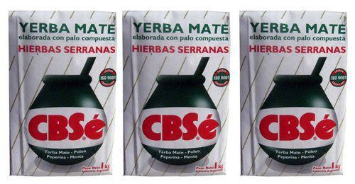 Yerba Mate CBSe x 3 KG Argentina Green Tea 6.6 lb Natural Herb Bag Slim Diet New