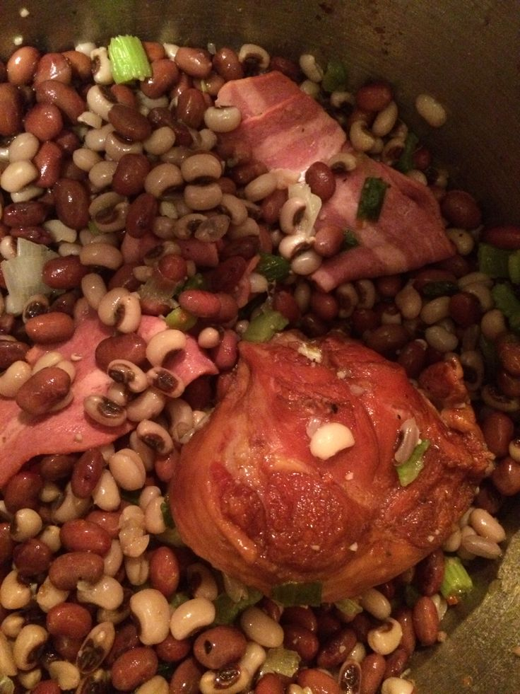 Black Eyed Peas & Red Beans with Veggies, Smoked Turkey ...