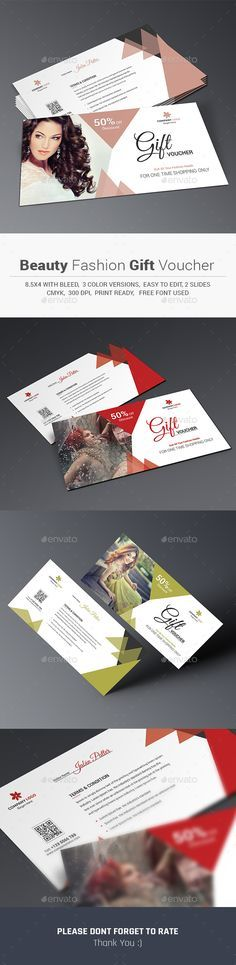 Beauty Fashion Gift Voucher Template PSD #design Download: http://graphicriver.net/item/beauty-fashion-gift-voucher/14117935?ref=ksioks