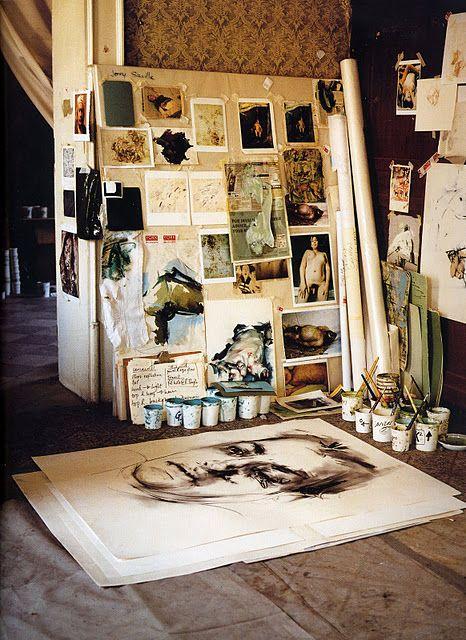 Beautiful workspace of Jenny Saville