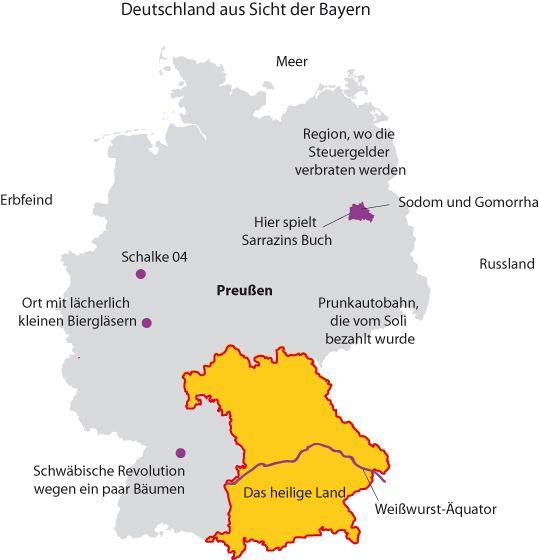Deutschland aus der Sicht der Bayern   Graphitti-Blog