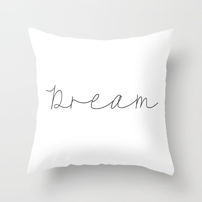 Dream Quote Pillow Couch Decor Decoration Quote Decorative Cute Throw Case Cover Covers Fluffily Tumblr Cool Nice Bea Pillows Couch Throw Pillows Throw Pillows