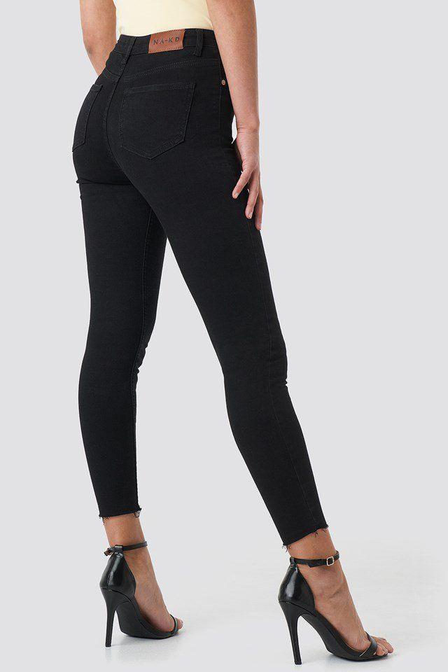 Skinny High Waist Raw Hem Jeans | Kleidung in 2019 | Jeans