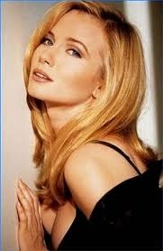 "REBECCA DE MORNAY USA...actress who became famous for her sexy role opposite tom cruise in 1983's ""risky business."""