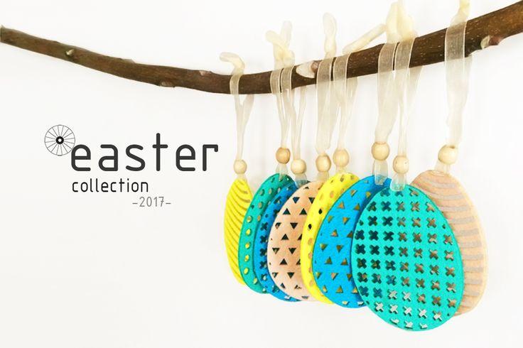 Set of Felt Easter Eggs