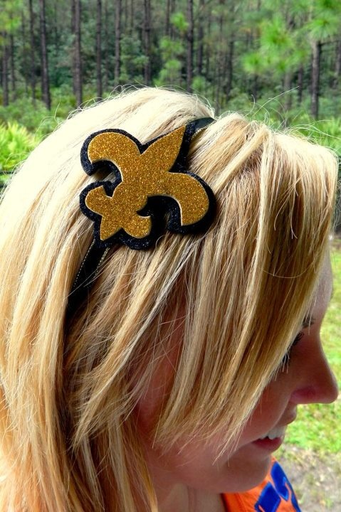 Saints Headbands 20 Glitter headbands, New orleans