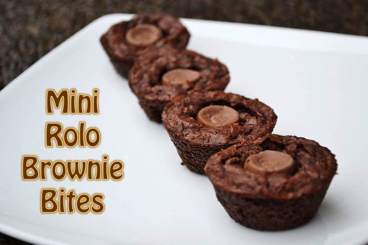 Mini Rolo Brownie Bites | Rolo brownies, Rolo and Brownies