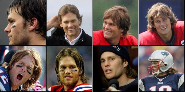 Has Tom every had a normal hairstyle?