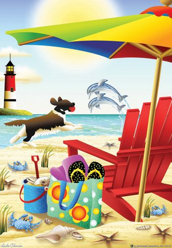 Jeremiah Junction Flag   Forever By The Seaside Decorative Flag At Garden  House At GardenHouseFlags · Cheap FlagsBeach ...